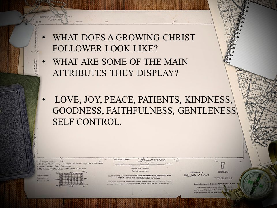 WHAT DOES A GROWING CHRIST FOLLOWER LOOK LIKE. WHAT ARE SOME OF THE MAIN ATTRIBUTES THEY DISPLAY.