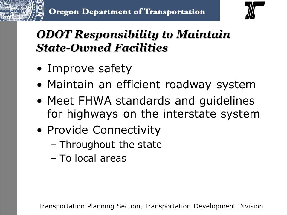 Transportation Planning Section, Transportation Development Division Market Forces Affect Traffic Flow Christina Fera-Thomas Transportation Analyst Transportation Planning Analysis Unit September 12 th 2008 May the Force Be With You: Understanding Market Forces and How They are Relevant to Planning