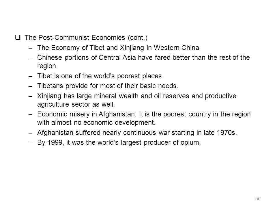 Comparative Regional Economy Central Asia Middle East And - The poorest country in central asia
