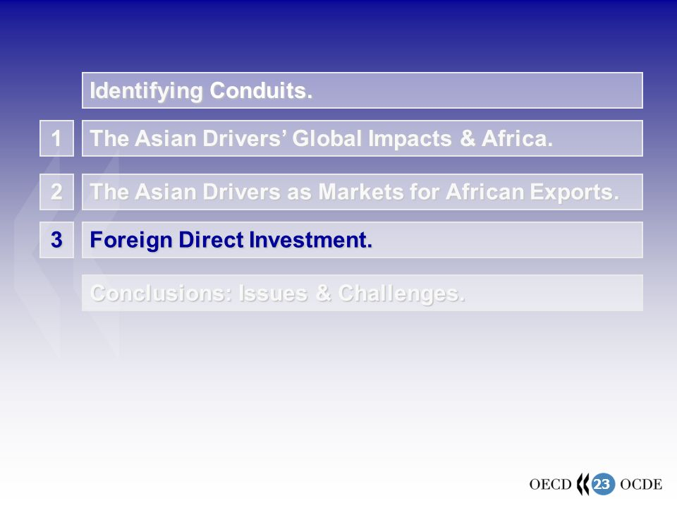23 1 The Asian Drivers' Global Impacts & Africa. The Asian Drivers as Markets for African Exports.