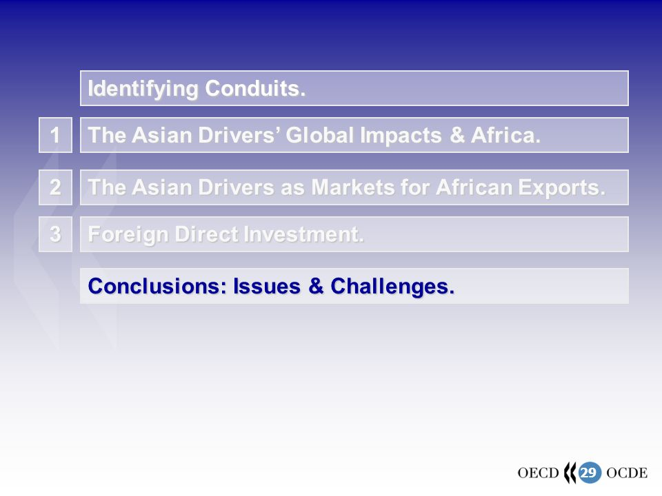 29 1 The Asian Drivers' Global Impacts & Africa. The Asian Drivers as Markets for African Exports.