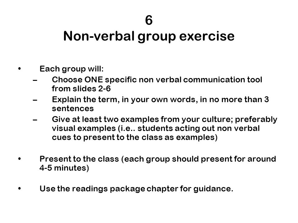 nonverbal communication excercise essay 6 listening skills exercises to promote stronger communication should help you and your team develop the listening skills they need for effective communication.