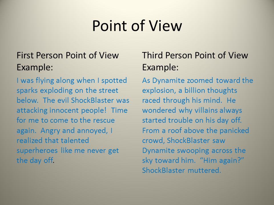 First Person Point Of View Essay