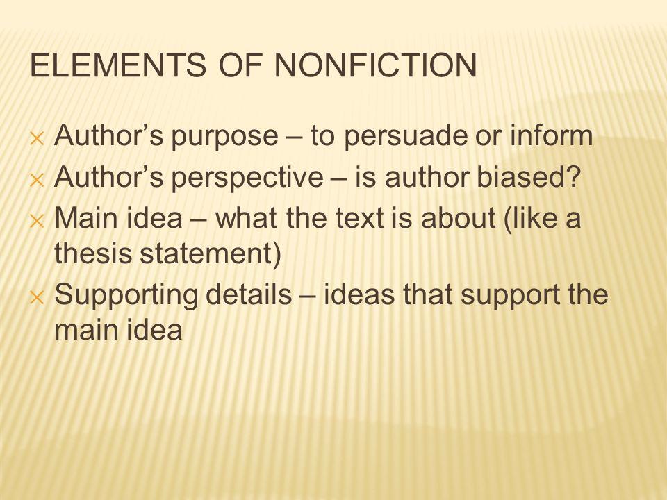 element of nonfiction