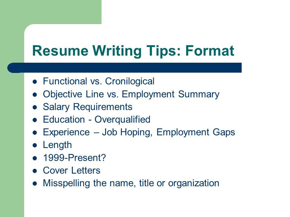 4 Resume Writing ...