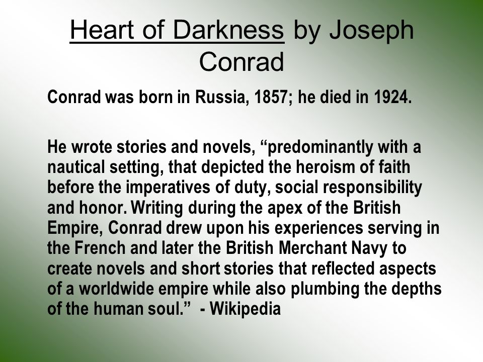 joseph conrad heart of darkness