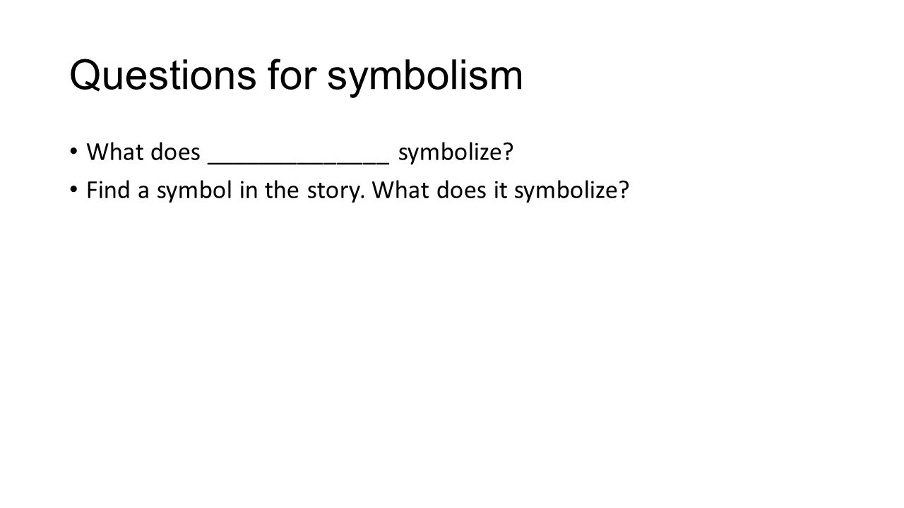 Symbolism literary term symbolism the use of an object person 10 questions buycottarizona Image collections