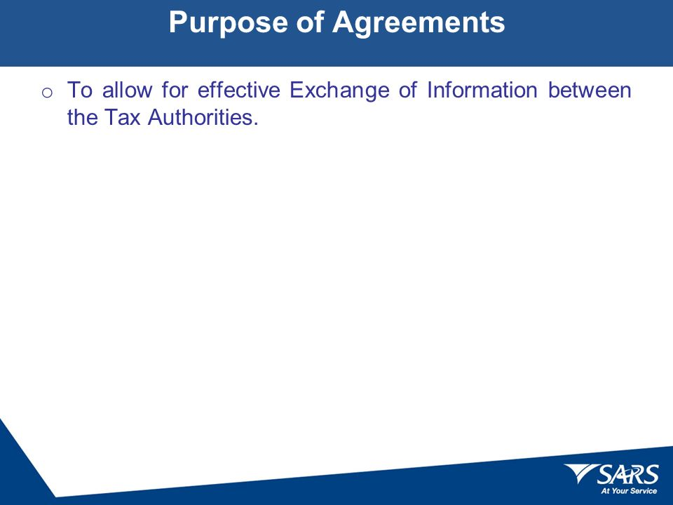 Tax Information Exchange Agreements Formal Ratification Ppt Download