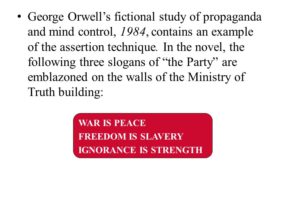 persuasion in 1984 george orwell