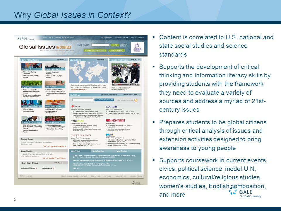 global issue assignment