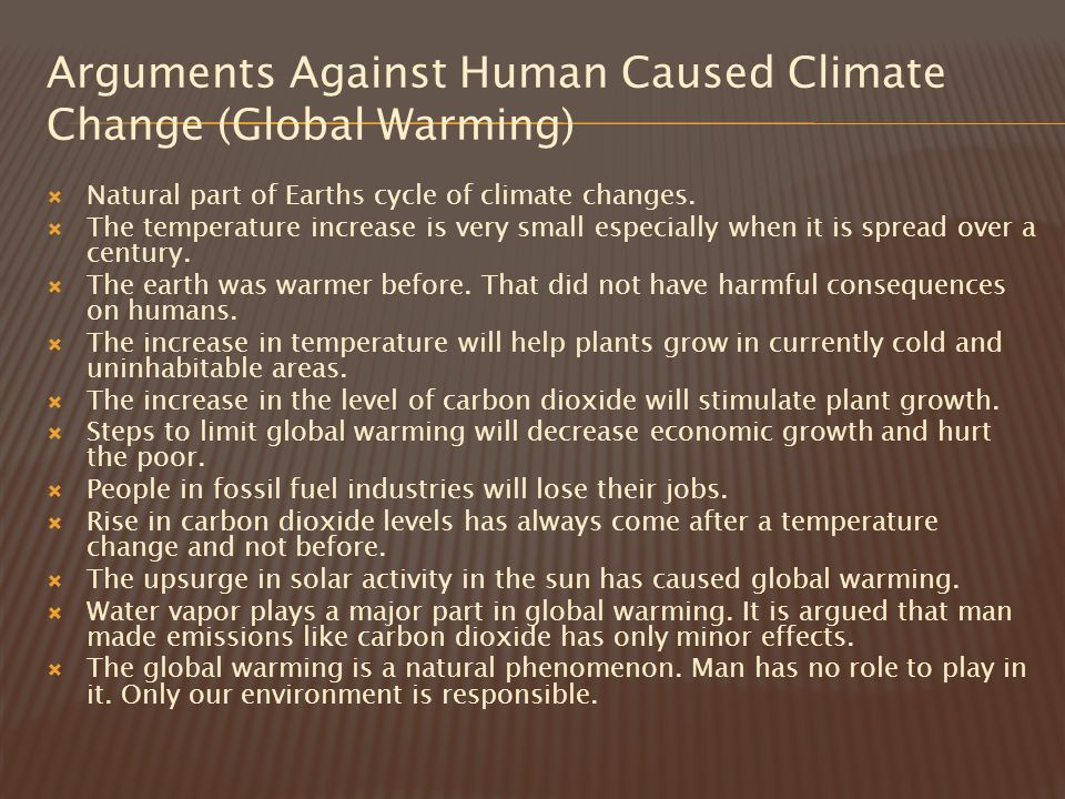 arguments against climate change