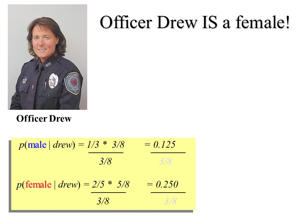 Officer Drew IS a female.