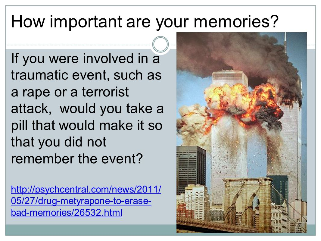 How important are your memories.