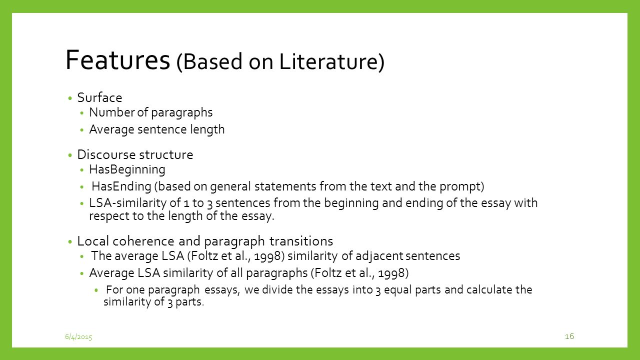 similarity essay sentence similarity measures for essay coherence  incorporating coherence of topics as a criterion in automatic 16 features conclusions comparison essays examples