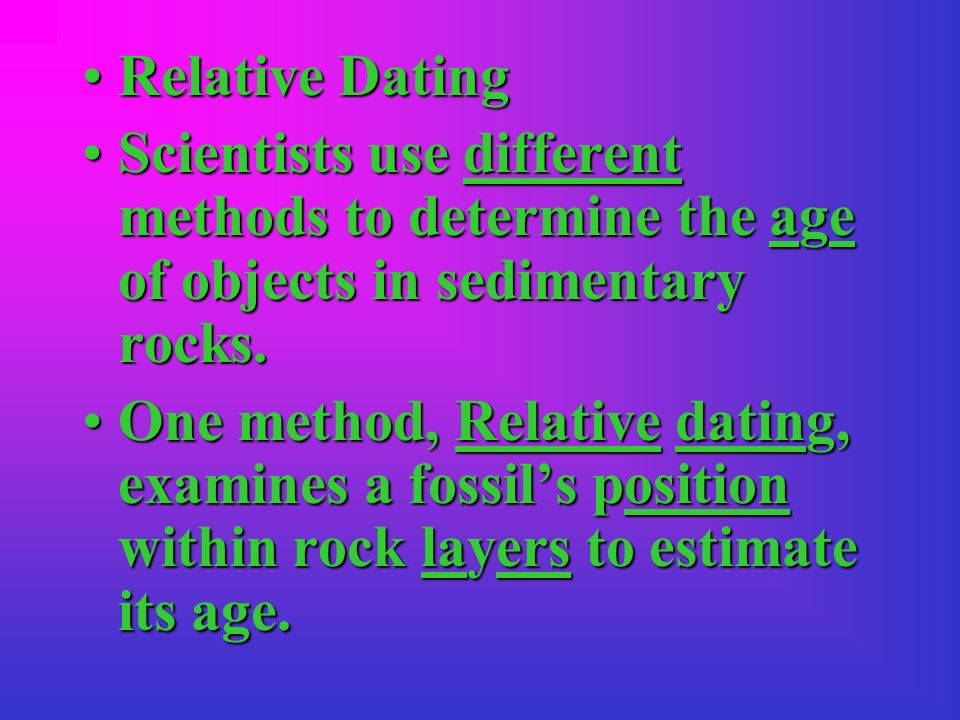 similarities between radioactive dating and relative dating