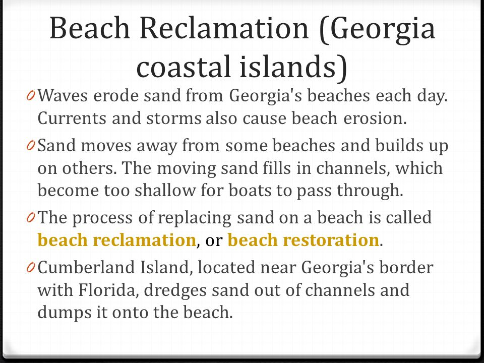 What are some beaches in Georgia?