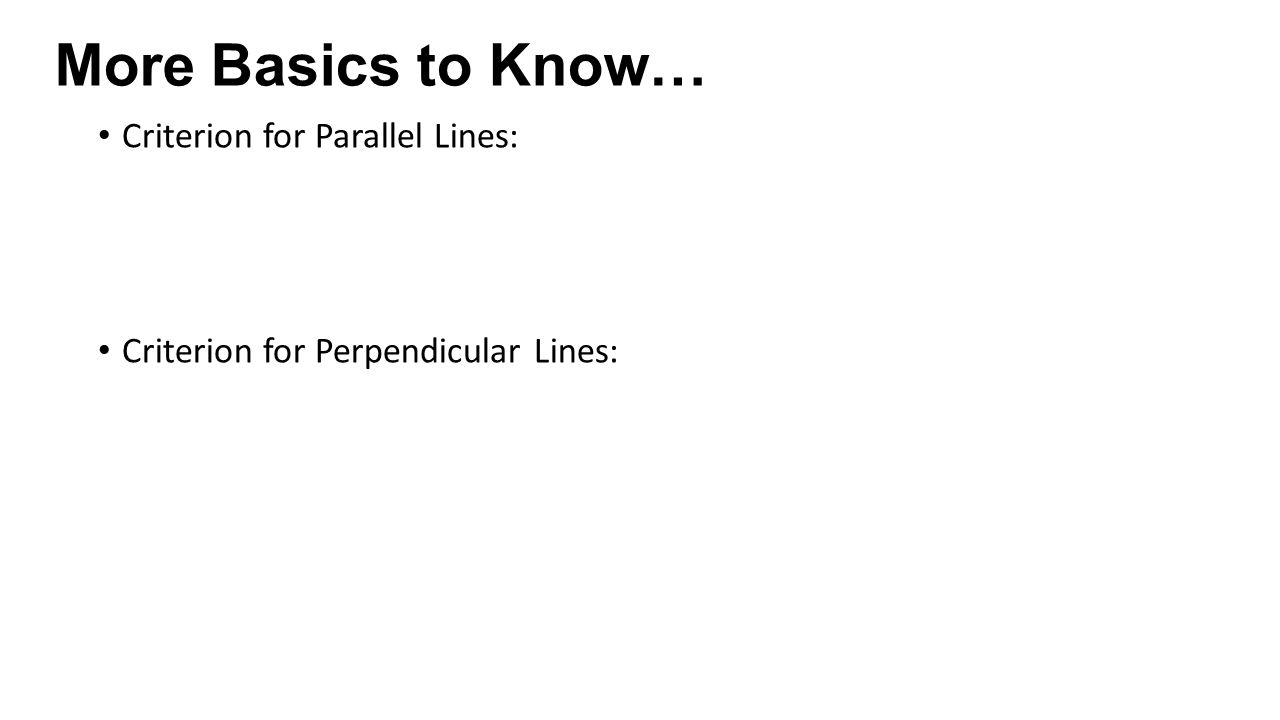 Hpc 16 notes learning targets interpret the slope of a line criterion for parallel lines criterion for perpendicular lines falaconquin