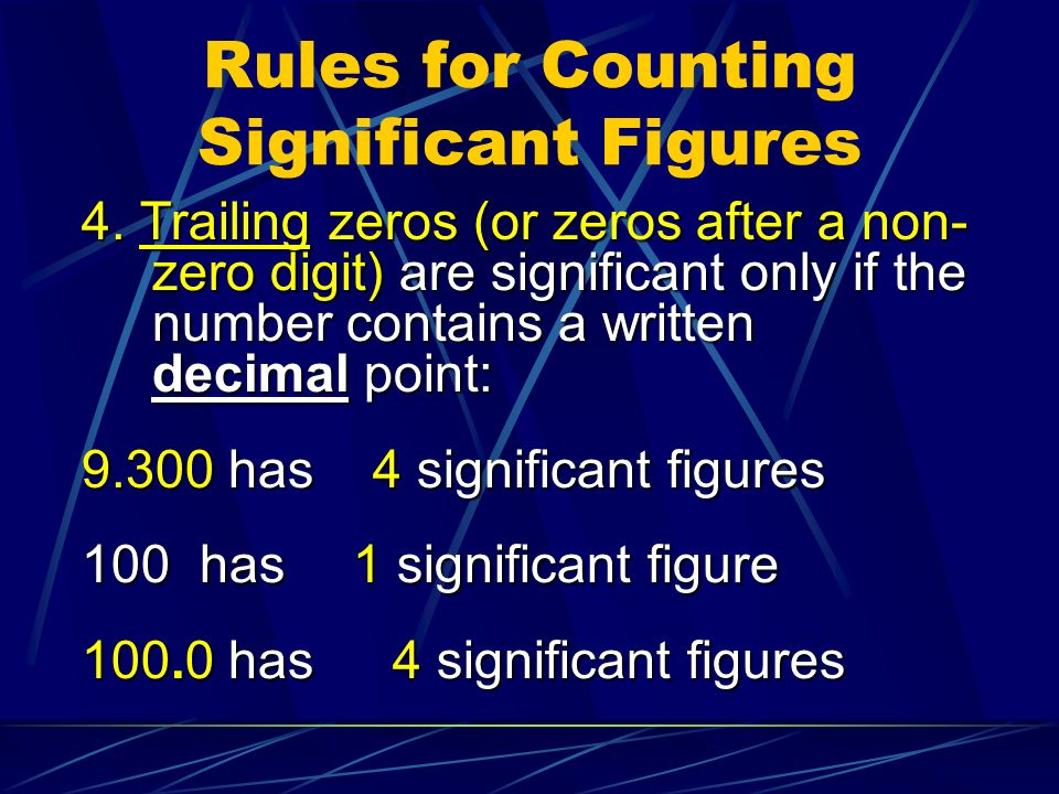 Rules for Counting Significant Figures 4.