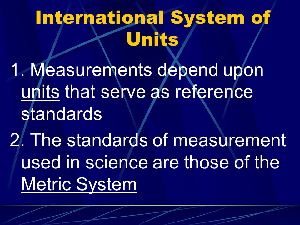 International System of Units 1.