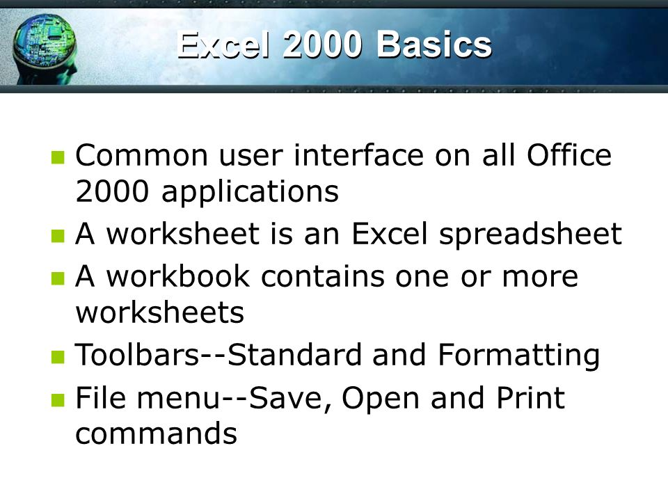 Module 3 Microsoft Office Suite Microsoft Excel Microsoft Office ...