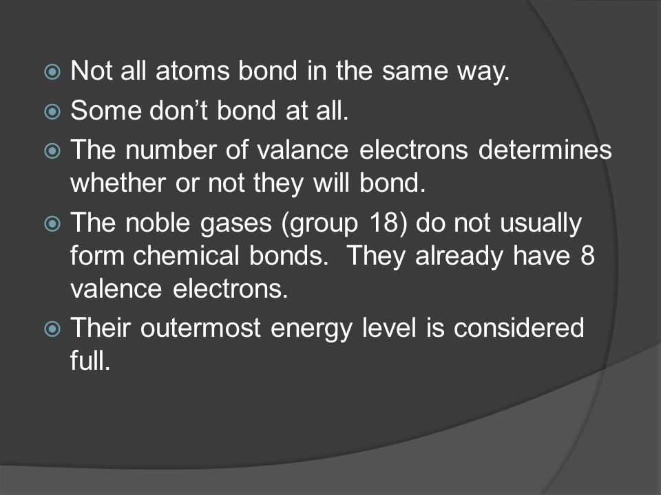 To Bond or Not to Bond That's the Question  You can use the ...