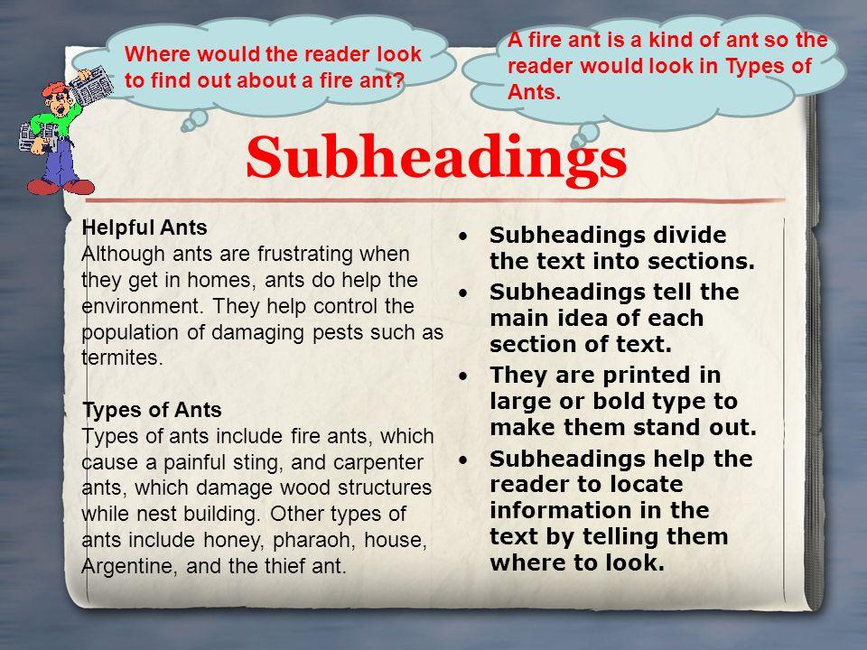 extended essay subheadings