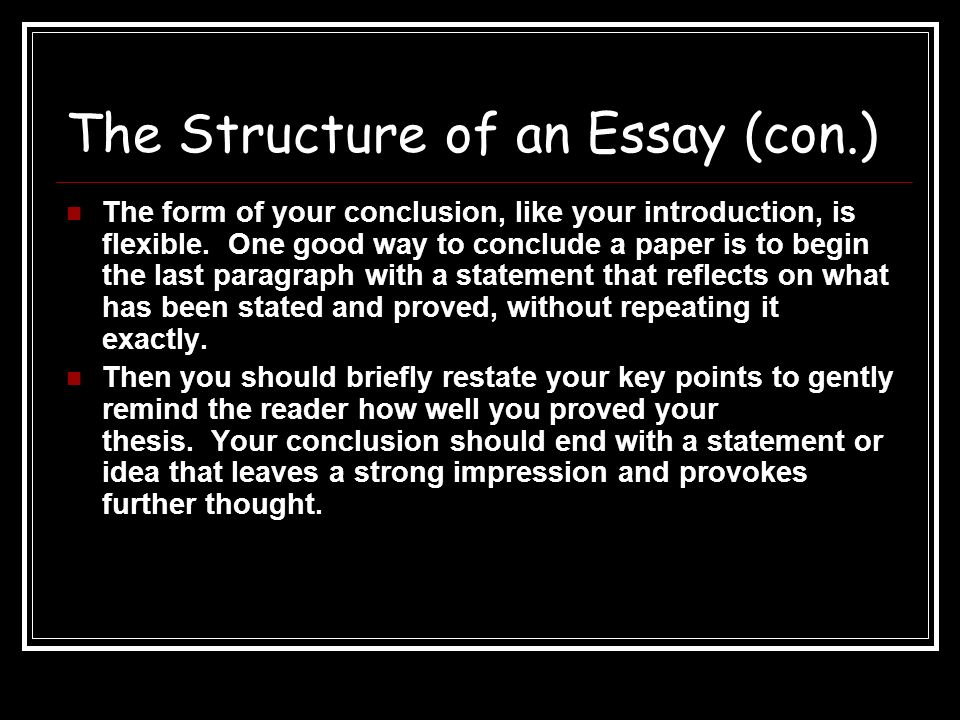 writing academic essays structure genre the structure of an  the structure of an essay con the form of your conclusion like