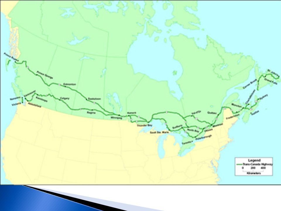 All Major Landforms Are Found In US And Canada The Two - Map of united states and canada with major cities