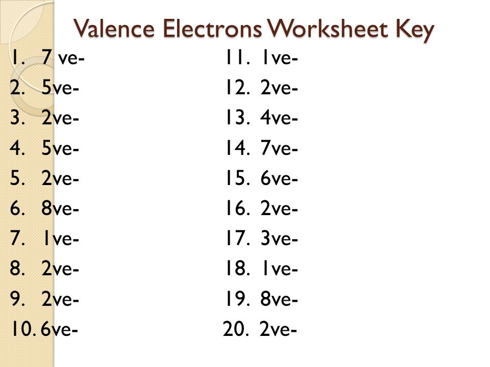 Infinite Campus Update Electron movement and arrangement study – Valence Electron Worksheet