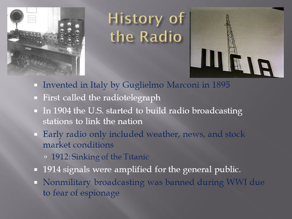 The Telegraph Optical and Electrical First form of mass media in ...