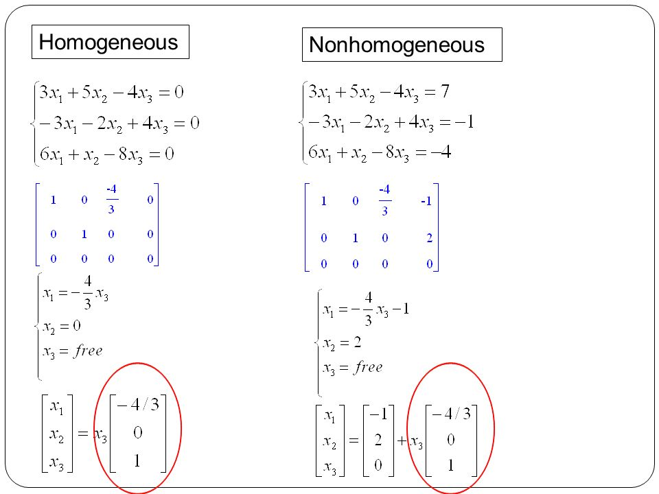 Homogeneous Nonhomogeneous