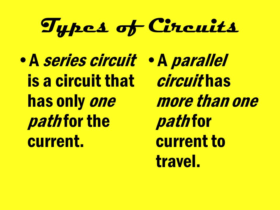 The steady flow of electricity along a wire or a path called a circuit.