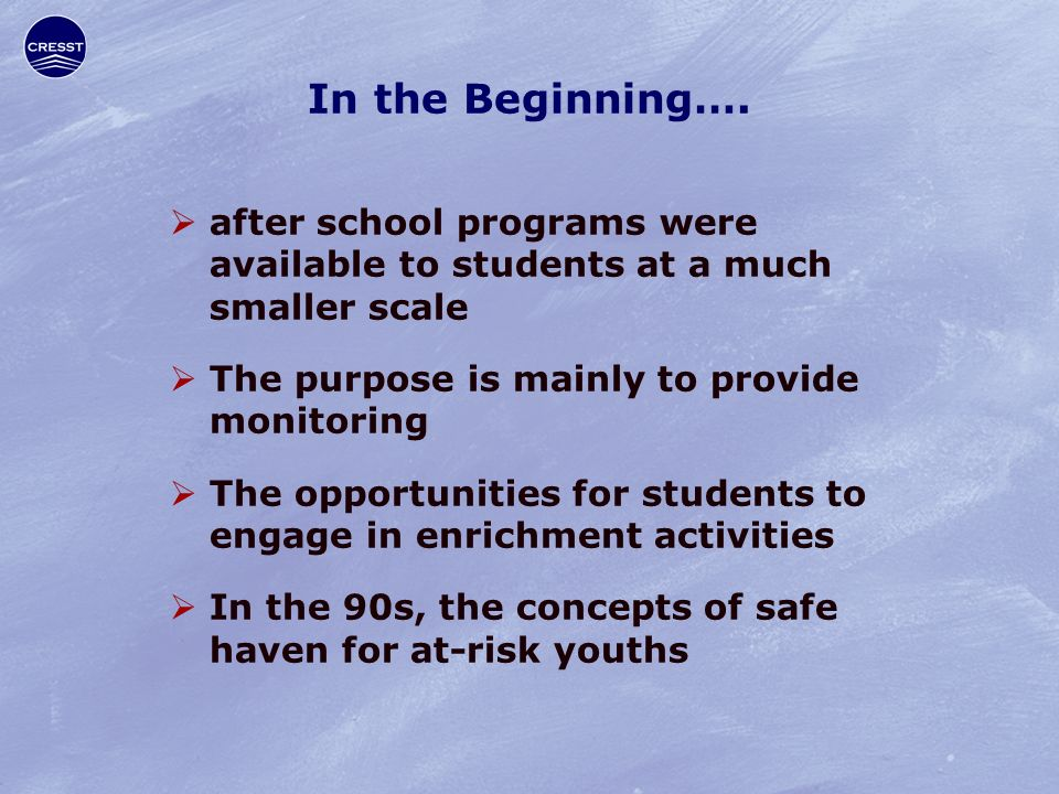 In the Beginning….