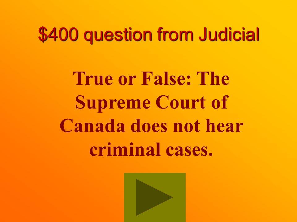 $300 Answer from Judicial To interpret and administer the law.