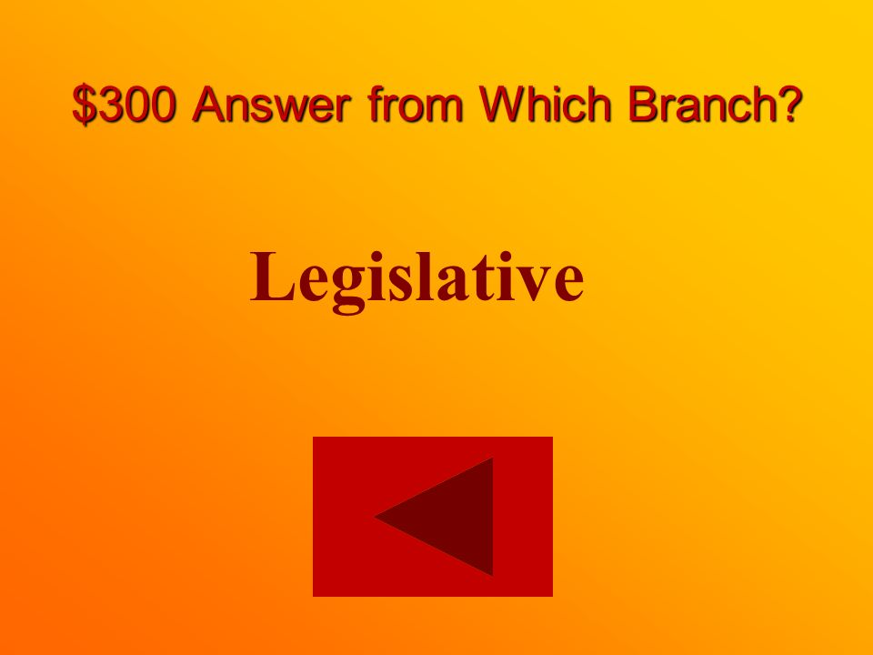 $300 question from Which Branch On which branch is a Member of Parliament