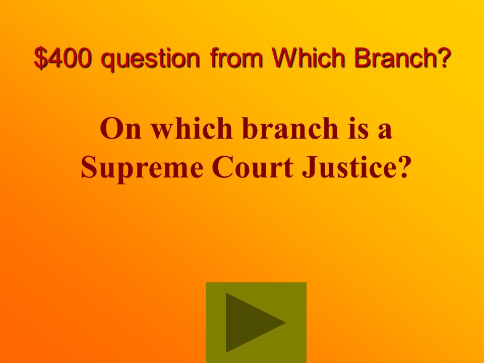 $300 Answer from Which Branch Legislative