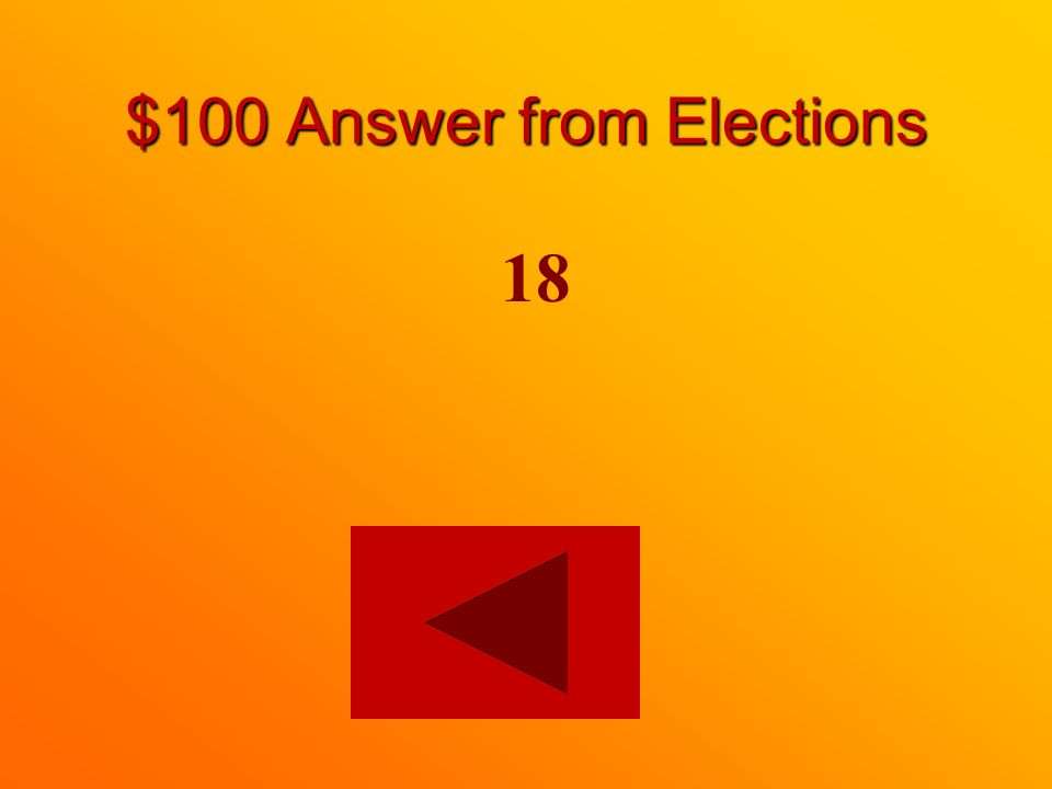 $100 question from Elections How old do you have to be to vote in Canada