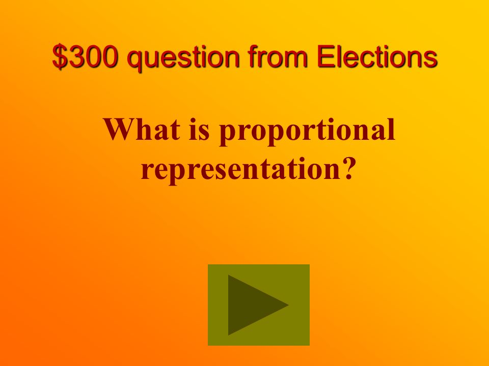 $200 Answer from Elections False