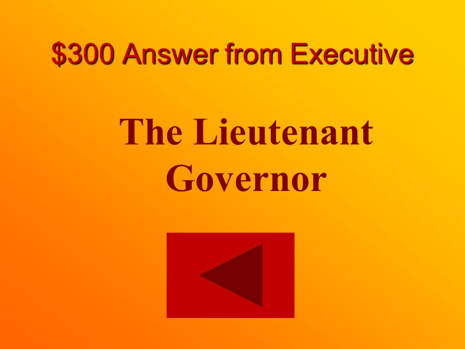 $300 question from Executive The provincial representative to the Crown is whom