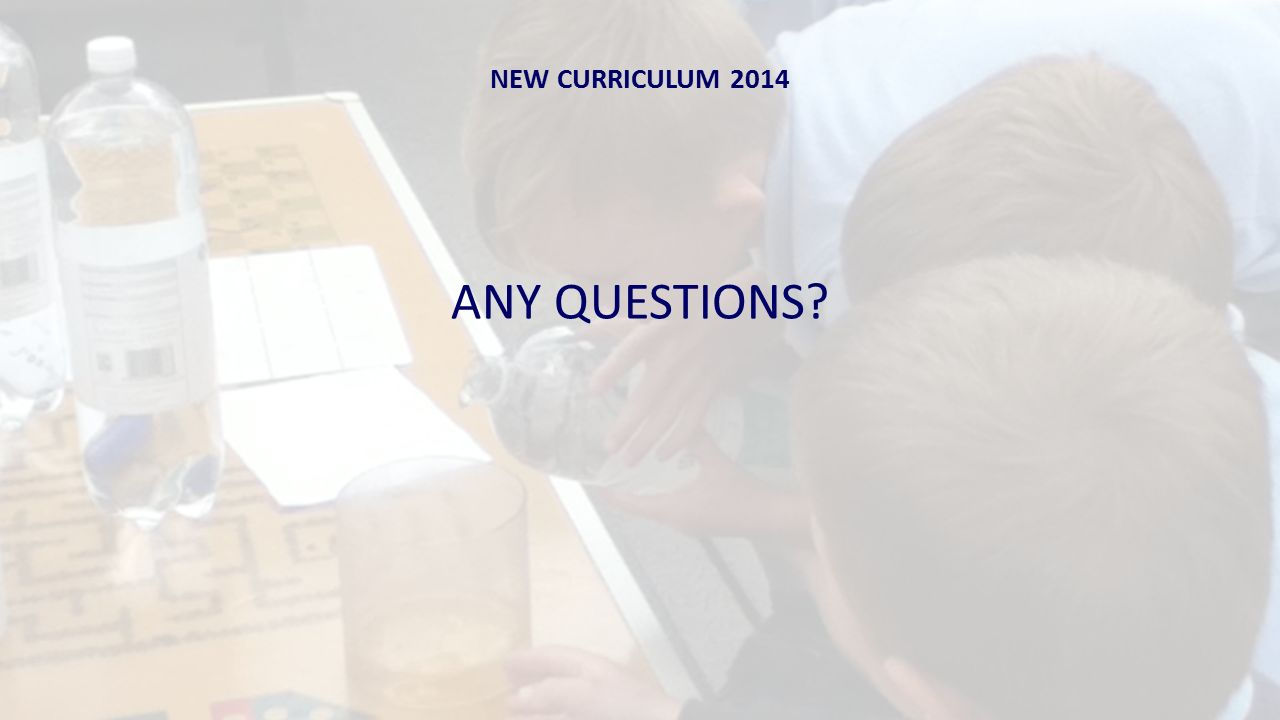 NEW CURRICULUM 2014 ANY QUESTIONS