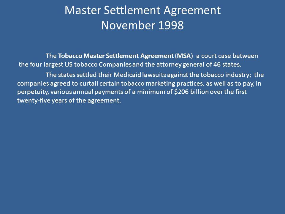 Following the 1964 sgac report senator maurine neuberger proposes 30 master settlement agreement platinumwayz