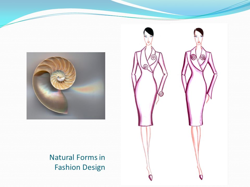 Natural Forms in Fashion Design