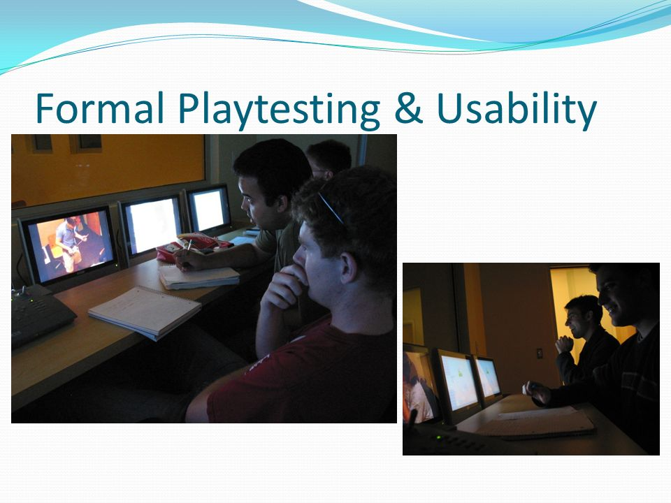 Formal Playtesting & Usability