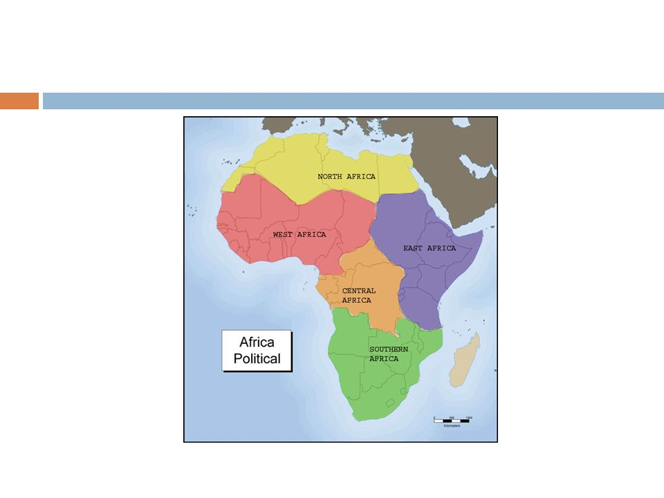 AFRICA HUMAN GEOGRAPHY Regions Africas has five subregions