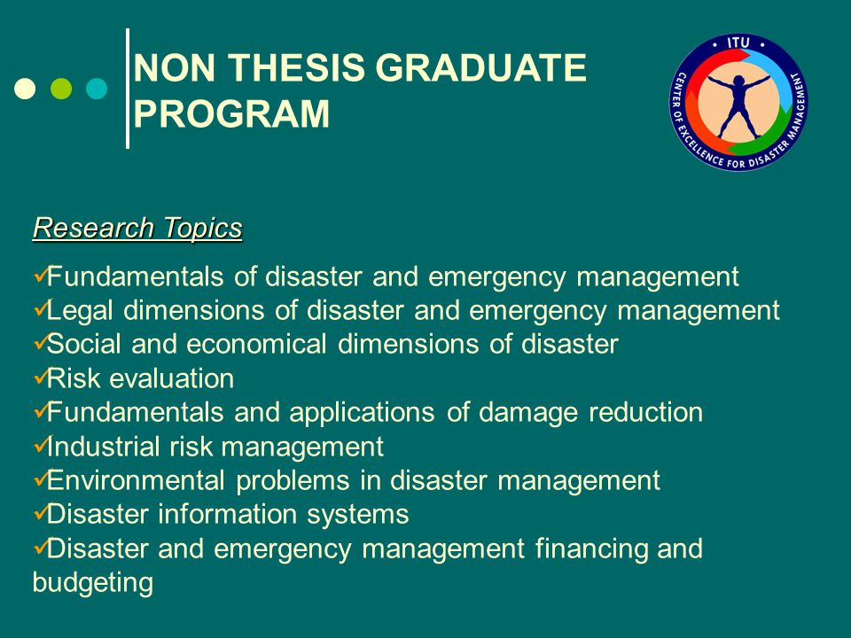 p.h.d.thesis on disaster management Project management thesis for disaster recovery - research database a 20 page paper providing chapters 1 and 2 of an mba thesis discussing category management.