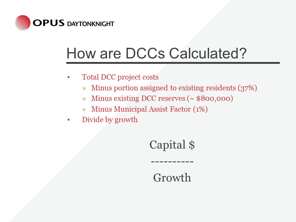 How are DCCs Calculated.