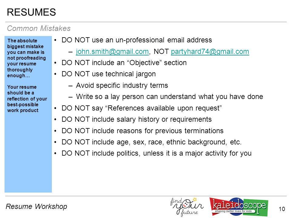 professional email address for resumes