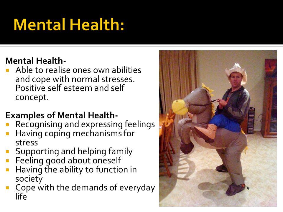having good mental health
