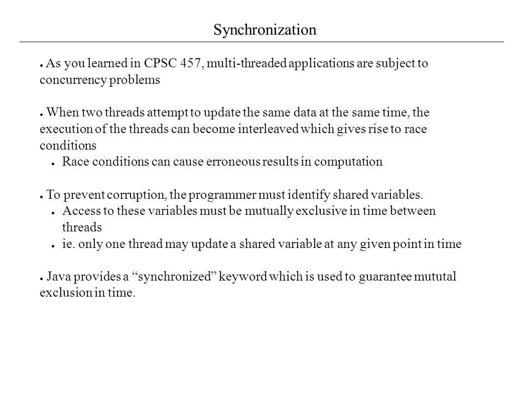 Concurrency in java tutorial choice image any tutorial examples threading and concurrency issues creating threads in java 7 synchronization baditri choice image baditri Gallery