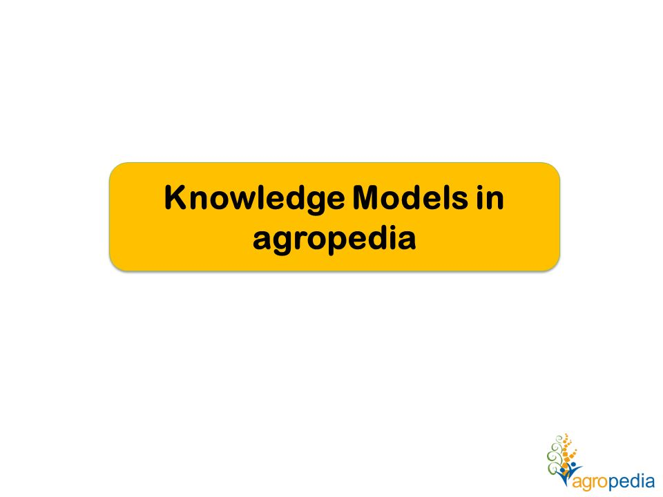 Knowledge Models in agropedia